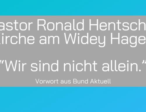 Pastor Ronald Hentschel aus der Kirche am Widey: Wir sind nicht allein.